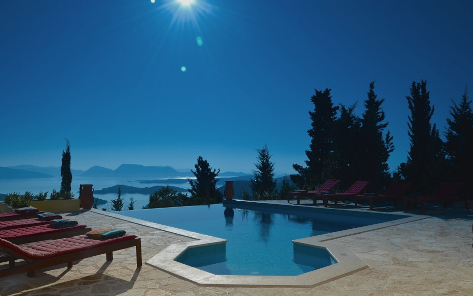 Luxury villa rental in the Ionian