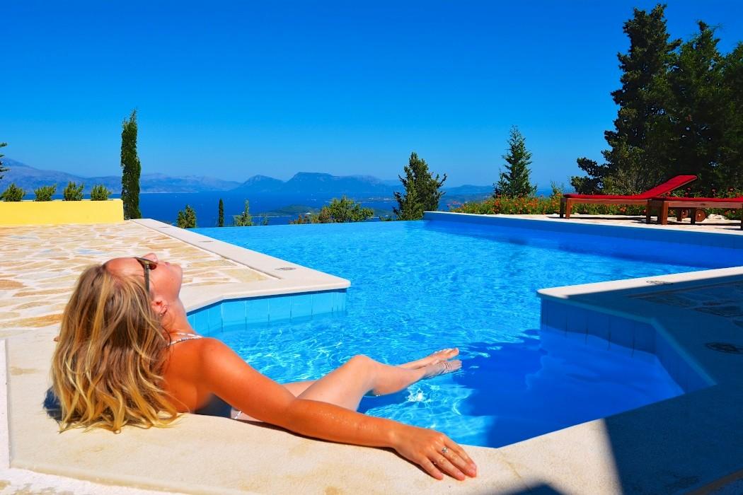 Large seaview villa on Lefkada