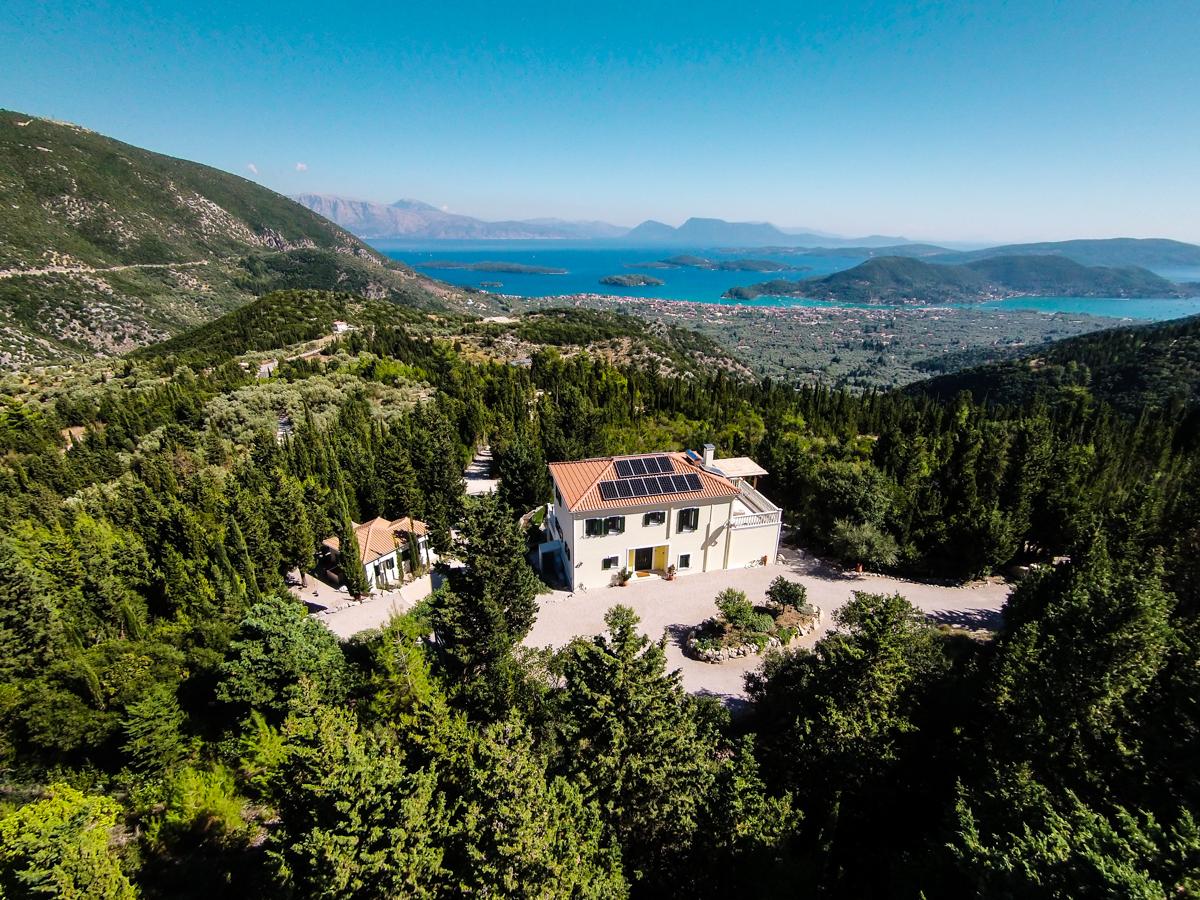 Large private seaview villa on Lefkada