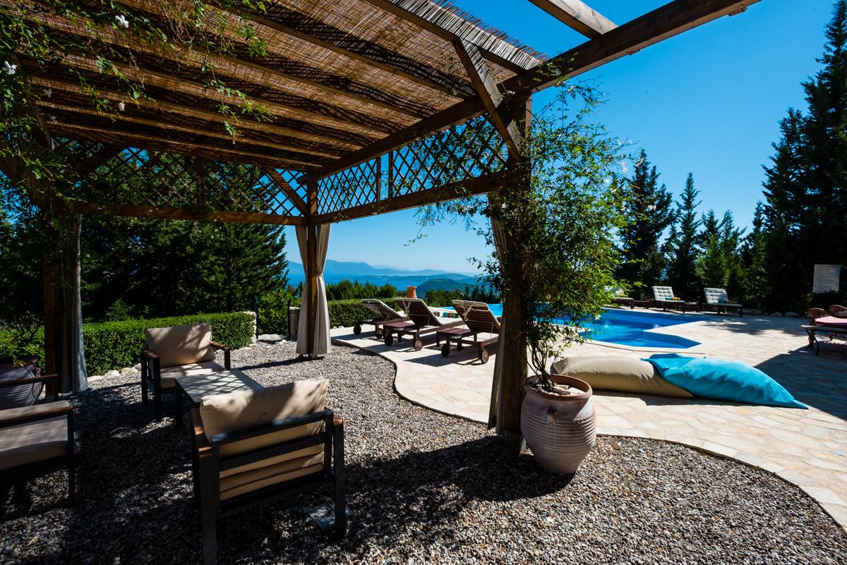 Large Ionian seaview villa