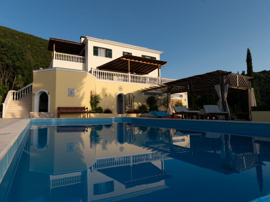 luxury family villa on Lefkada